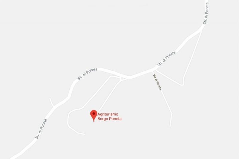 How to reach Borgo Poneta Farmhouse